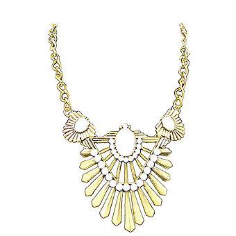 Guld damer stil juvel erklæring krystal bib choker krave halskæde