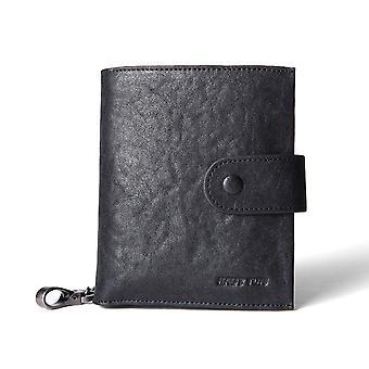 Hautton Leather Wallet 8 credit Card Slots - Black