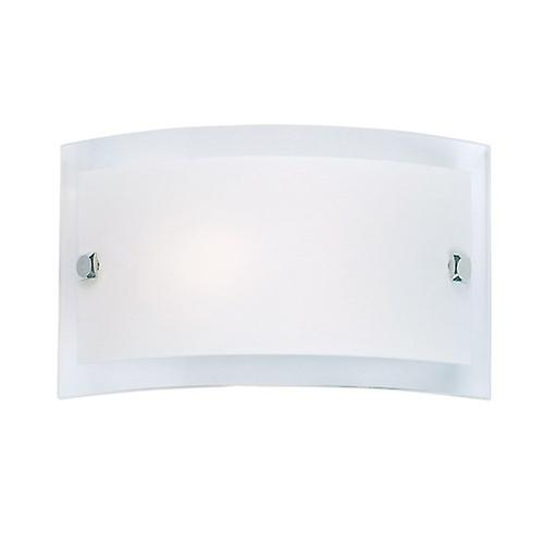 Endon 095-20 Modern Switched Curved Glass Wall Light