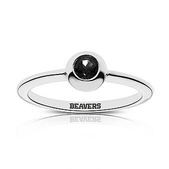 Oregon State University Biber graviert schwarz Onyx Ring