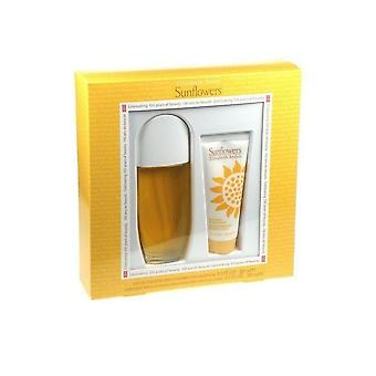 Elizabeth Arden dom Sunflowers Set-100ml EDT & 100ml loção corporal