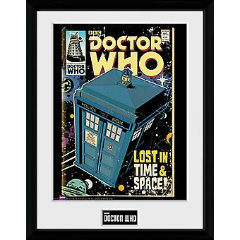 Doctor Who Tardis Comic Framed Collector Print 40x30cm