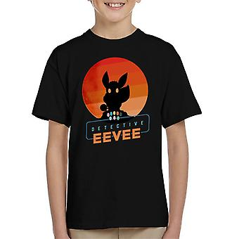 Detective Eevee Silhouette Kid's T-Shirt
