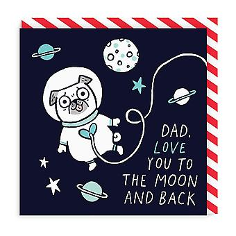 oh Deer Dad, Love You To The Moon And Back Square Carte de voeux