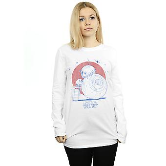Star Wars The Rise Of Skywalker BB-8 and D-O Distressed Long Sleeved T-Shirt Women's Boyfriend Fit