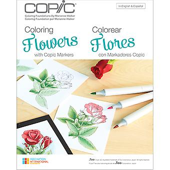 Copic Books-Coloring Flowers CB-FLOWR