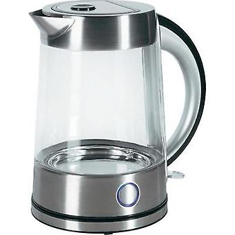 Kettle cordless Renkforce Glass Water Kettle Glass, Stainless steel