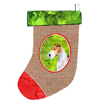 Carolines Treasures  SS2048-CS Fox Terrier Christmas Stocking SS2048