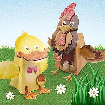Box Pops On The Farm A4 2/Pkg-Henrietta The Hen/Quackers The Duck BPFRM903
