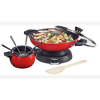 Bestron Wok and fondue 2 in 1 Power 1300 watts