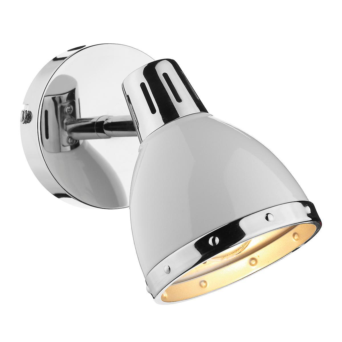 Dar OSA072 Osaka Modern Single Spot Light In A White/Chrome Finish