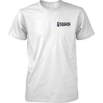 T-shirt cor de esportes Squash RN logotipo 1 - marinha real