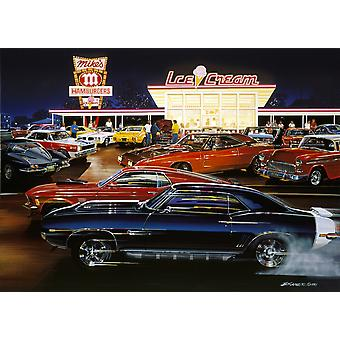 Saturday Night Poster Print by Bruce Kaiser