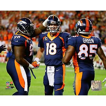 Peyton Manning becomes the NFLs All-Time leader in career Touchdown Passes- October 19 2014 Photo Print