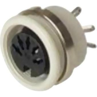 DIN connector Socket, vertical vertical Number of pins: 6 Grey Hirschmann MAB 6100 1 pc(s)