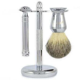 Duellist Safety Razor Brush & Stand Shaving Set