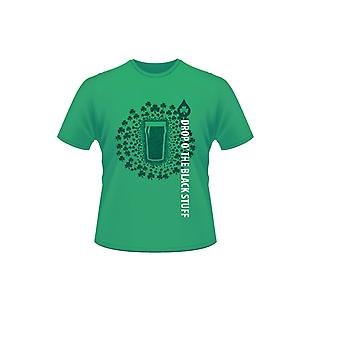 Green St Patrick's Day Short Sleeve 100% Cotton Drop O' The Black Stuff T-Shirt