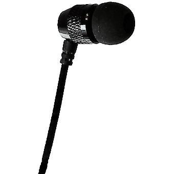 Langt ende Gear korte knopper - kort ledning enkelt Stereo til Mono øresnegl - sort