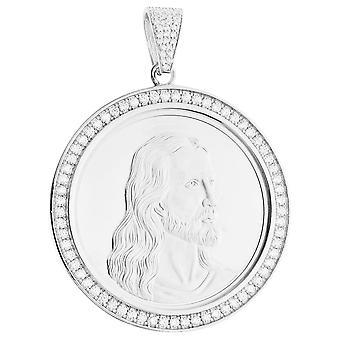 Premie bling - communie-zilveren Medaillon hanger