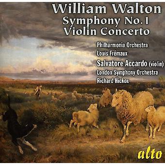 W. Walton - William Walton: Symphony No. 1; Violin Concerto [CD] USA import