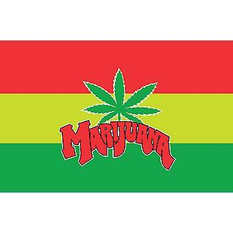 5ft x 3ft Flag - Marijuana