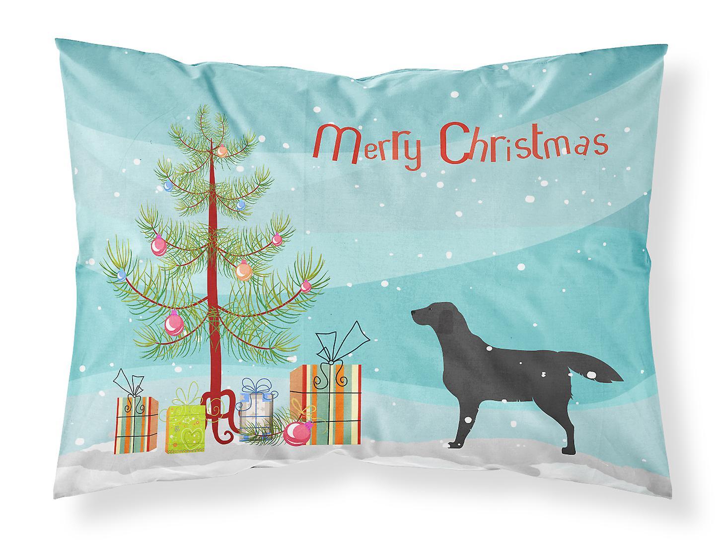 Tree Tissu Retriever Noir Labrador Taie D'oreiller Standard Merry Christmas FlKT1Jc3