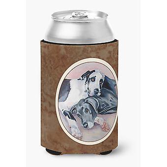 Tesoros de Carolines 7164CC negro y Arlequín gran danés pueden o botella Hugger