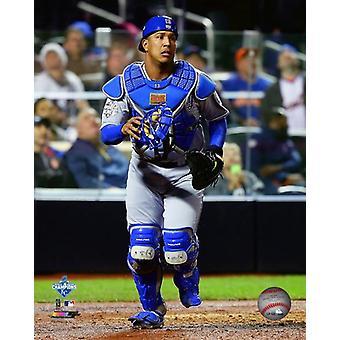 Salvador Perez spel 5 voor de 2015 MLB World Series Foto Print