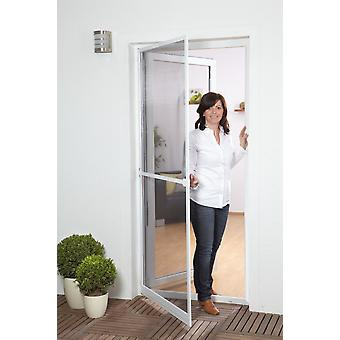 Fly screen door Kit insect protection 100 x 210 cm in white