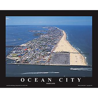 Ocean City, Maryland Poster Print von Mike Smith (28 x 22)