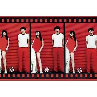 Hvite striper-Film Strip plakat plakatutskrift