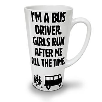 Handsome Bus Driver NEW White Tea Coffee Ceramic Latte Mug 17 oz | Wellcoda