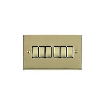 Hamilton Litestat Cheriton Victorian Polished Brass 6g 10AX 2 Way Rkr PB/BL