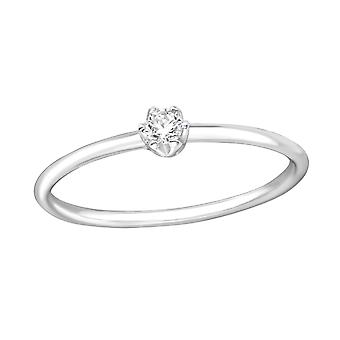 Solitaire - 925 Sterling Silver Jewelled Rings - W35453X