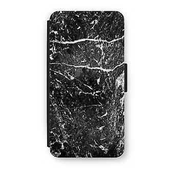 Samsung Galaxy S8 Plus Flip Case - Black marble