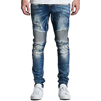 Embellish Lance Biker Denim Jeans