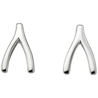 Beginnings Wishbone Stud Earrings - Silver