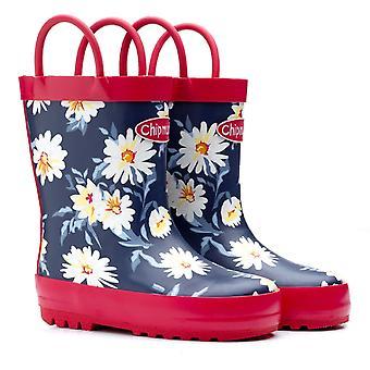 Frække piger Daisy gummistøvler blå blomster