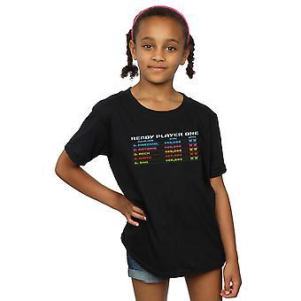 Ready Player One Girls 8-Bit Scoreboard T-Shirt