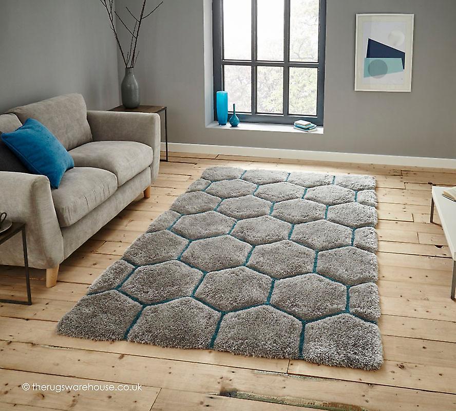 cooper grau blau teppich fruugo. Black Bedroom Furniture Sets. Home Design Ideas