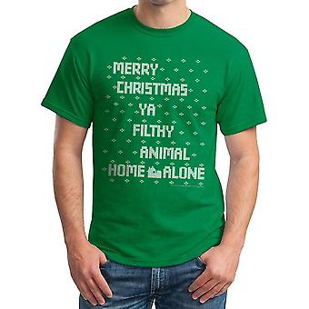 Home Alone Filthy Sweater Men's Kelly Green T-shirt