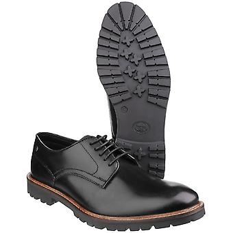 Base London Mens Barrage Lace up Derby Casual Leather Shoes