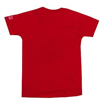 Junior jongens adidas Spiderman T-Shirt In Red-Ribbed kraag - bemanning hals - Side