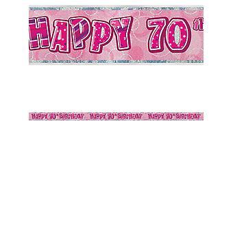 Fødselsdag Glitz Pink 70thfødselsdag prisme Banner