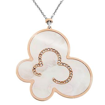 Orphelia Silver 925  Necklace Bicolor Butterfly Mop  ZK-7166