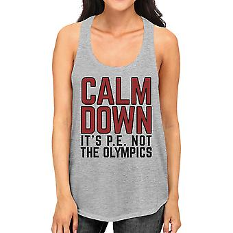 It's Pe Not The Olympics Grey Funny Workout Gift Tank Top Racerback