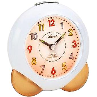 Atlanta 1733/12 alarm clock for children quartz analog kids alarm clock orange soft
