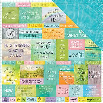 Scrapberry's It's A Wonderful Life Dbl-Sided Cardstock 12X12-Believe