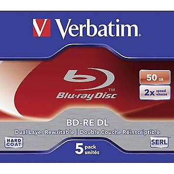 Blank Blu-ray BD-RE DL 50 GB Verbatim 43760 5 pc(s)