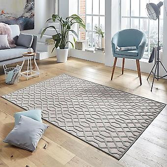 Design viscose rug Caine in relief appearance grey